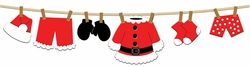 Digital Download: Santa Clothesline Laser Die Cut