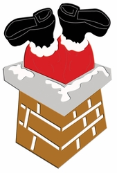 Digital Download: Santa Down Chimney Laser Die Cut