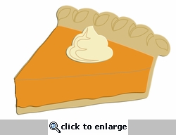 digital download slice of pumpkin pie laser die cut