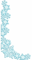 Digital Download: Snowflake Corner Border Laser Die Cut
