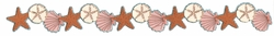 Digital Download: Starfish, Sand Dollar and Seashell Glitter Border Laser Die Cut