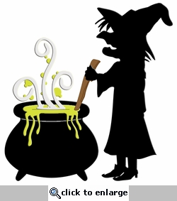 Digital Download: Witch and Cauldron Laser Die Cut