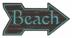 Digital Download: Wooden Beach Sign Laser Die Cut