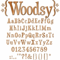 Digital Download: Woodsy Alpha Set