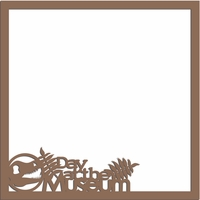 Dino Fun: Day at the Museum  12 x 12 Overlay Laser Die Cut