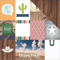 Discover USA: Country Song Tags 12 x 12 Double Sided Cardstock