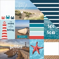 Discover USA: East Coast Tags 12 x 12 Double Sided Cardstock