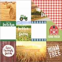 Discover USA: Midwest Tags 12 x 12 Double Sided Cardstock