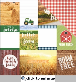 1SYT Discover USA: Midwest Tags 12 x 12 Double Sided Cardstock