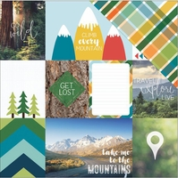Discover USA: Mountain Tags 12 x 12 Double Sided Cardstock