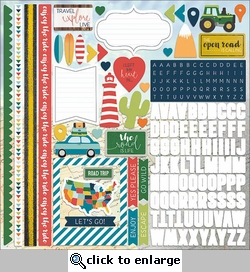 Discover USA: The Open Road 12 x 12 Cardstock Stickers