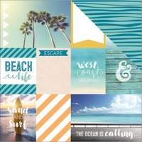 Discover USA: West Coast Tags 12 x 12 Double Sided Cardstock