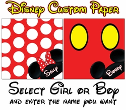 Disney Boy/Girl Custom 12 x 12 Paper