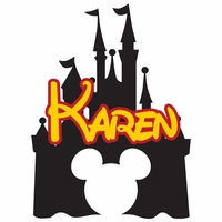 Disney Castle and Name Custom Laser Die Cut