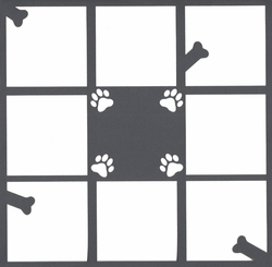 Dog 12 x 12 Overlay Laser Die Cut