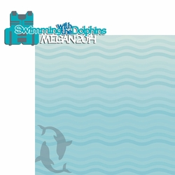 Dolphin: Custom Swimming with the Dolphins 2 Piece Laser Die Cut Kit