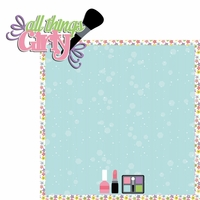 Dress Up: All Girly 2 Piece Laser Die Cut Kit