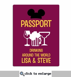 Drinking around the World: Custom Passport Laser Die Cut