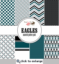 Eagles Assorted 12 x 12 Paper Pack