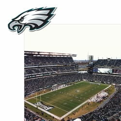 Eagles: Stadium and Logo 2 Piece Laser Die Cut Kit