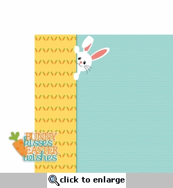 Easter: Bunny Kisses 2 Piece Laser Die Cut Kit