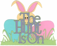 Easter: The Hunt Is On Laser Die Cut