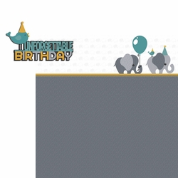 Elephant: Birthday Blue  2 Piece Laser Die Cut Kit