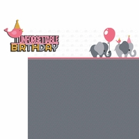 Elephant: Birthday Pink 2 Piece Laser Die Cut Kit