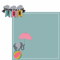 Elephant: Trunk full 2 Piece Laser Die Cut Kit