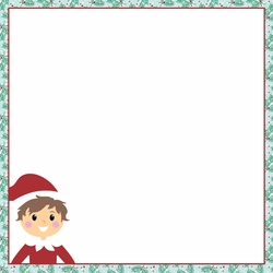Elf on a Shelf: Elf Surveillance 12 x 12 Paper