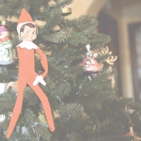 Elf On A Shelf: Hanging Around 12 x 12 Paper