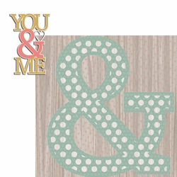 Engaged: You and Me 2 Piece Laser Die Cut Kit