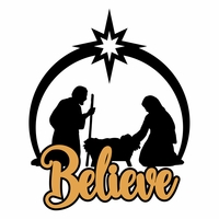 Faith: Believe Laser Die Cut