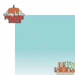 Fall Bucket List: Pumpkin Patch 2 Piece Laser Die Cut Kit