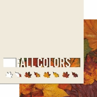Fall Colors 12 x 12 Overlay Quick Page Laser Die Cut