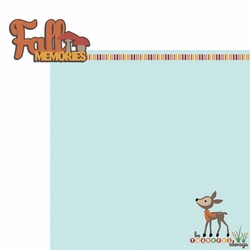 1SYT Fall Critters: Fall Memories 2 Piece Laser Die Cut Kit