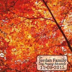 Fall Memories: Fall Custom 12 x 12 Paper