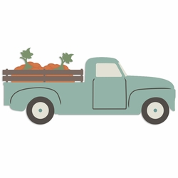 Fall Moments: Truck with Pumpkins Laser Die Cut