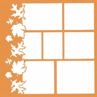 Falling Leaves 12 x 12 Overlay Laser Die Cut