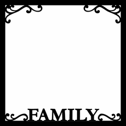 Family 12 x 12 Overlay Laser Die Cut