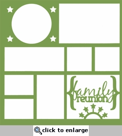 Family Reunion Stars 12 x 12 Overlay Laser Die Cut