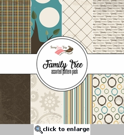 Family Tree Assorted 12 x 12 Paper Pack