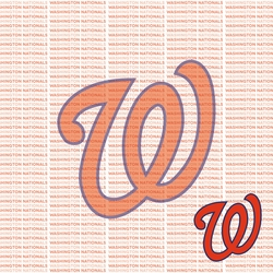 Fanatic: Washington Nationals 12 x 12 Paper