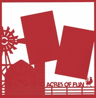 Farm: Acres Of Fun 12 x 12 Overlay Laser Die Cut