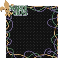 Fat Tuesday: Mardi Gras 2 Piece Laser Die Cut Kit