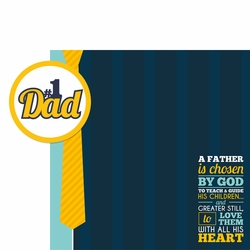 Father's Day: #1 Dad 2 Piece Laser Die Cut Kit