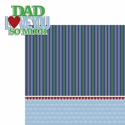 2SYT Father's Day: Love You So Much 2 Piece Laser Die Cut Kit