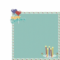 February: Happy Birthday 2 Piece Laser Die Cut Kit