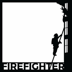 Firefighter: Ladder 12 x 12 Overlay