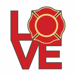 Firefighter: Love Laser Die Cut